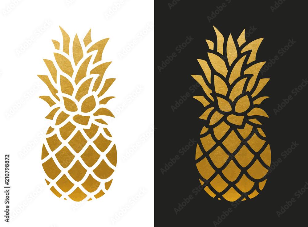 Fototapeta Golden Pineapple Shape