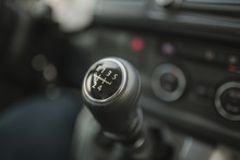 Close Up Of Gear Shift Stick W...