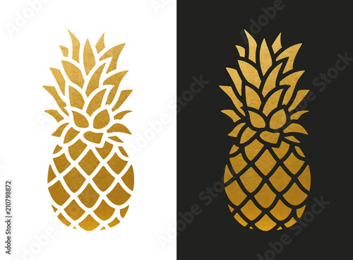 Photo Golden Pineapple Shape