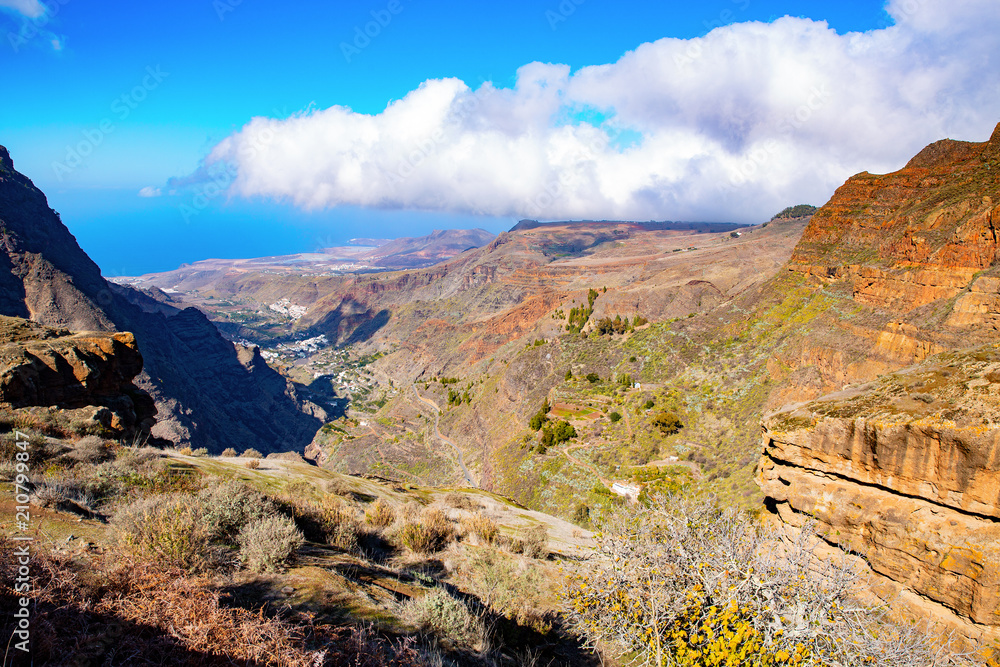 The Valley of Agaete on Gran Canaria Island, Canary Islands, Spain