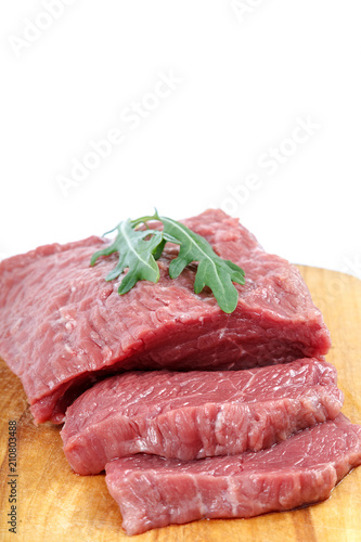 Staande foto Vlees Meat fresh isolated on a white background