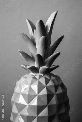 ananas bianco e nero