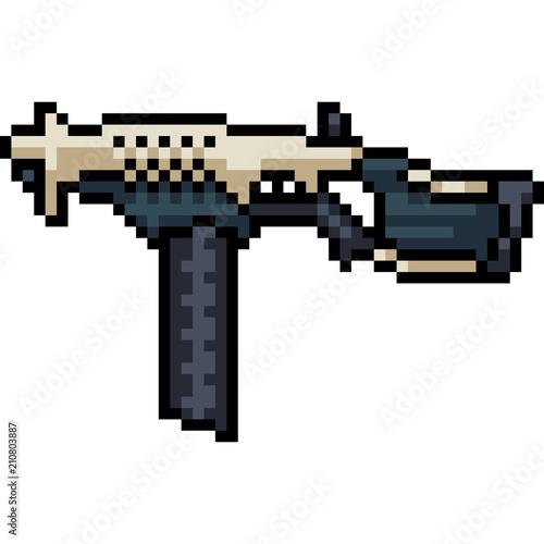 Vector Pixel Art Sci Fi Machine Gun Acheter Ce Vecteur