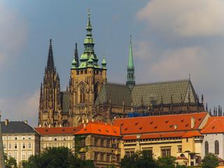 The Prague Castle and The Saint Vitus Cathedral in Prague, Czech Republic