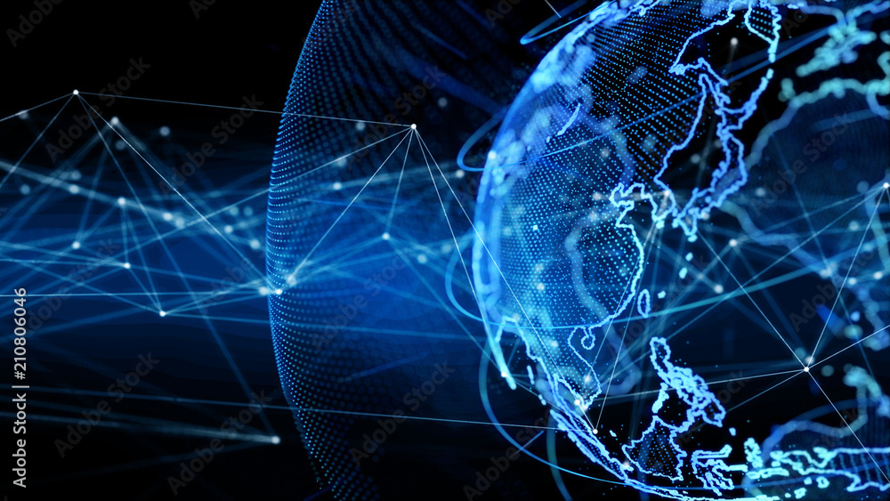 Fototapeta グローバルネットワーク