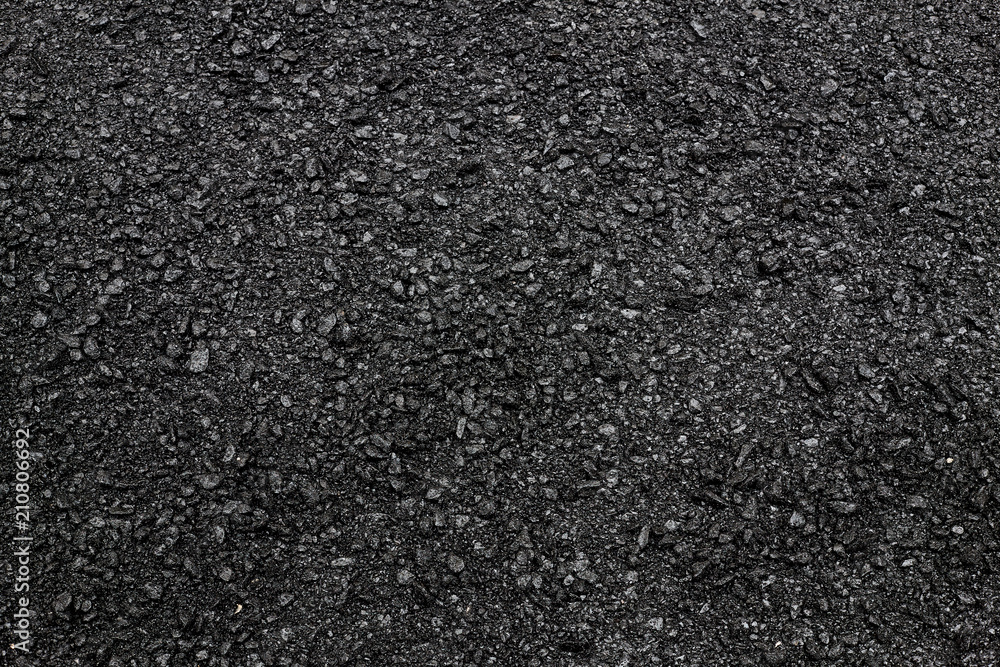 Fototapeta Fresh asphalt background.Construction road.