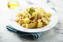 Homemade Warm Potato Salad Wit...