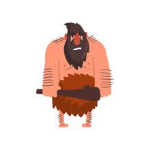 Muscular Primitive Caveman Wit...