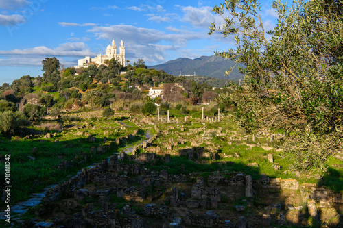 Papiers peints Scandinavie Basilica of Saint Augustin in Annaba, the fourth largest city in Algeria. Beautiful view and nature
