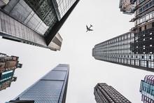 From Below Of Skyscrapers Under Sky