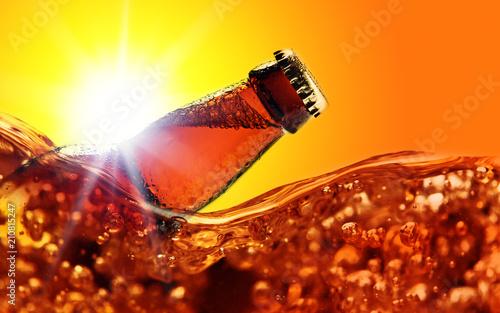 In de dag Bier / Cider Frozen beer bottle