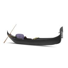 Gondola Boat On White. 3D Illu...
