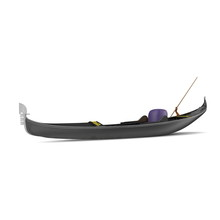 Gondola Boat On White. 3D Illustration