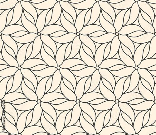 Plakaty beżowe  seamless-flower-pattern-on-beige-background