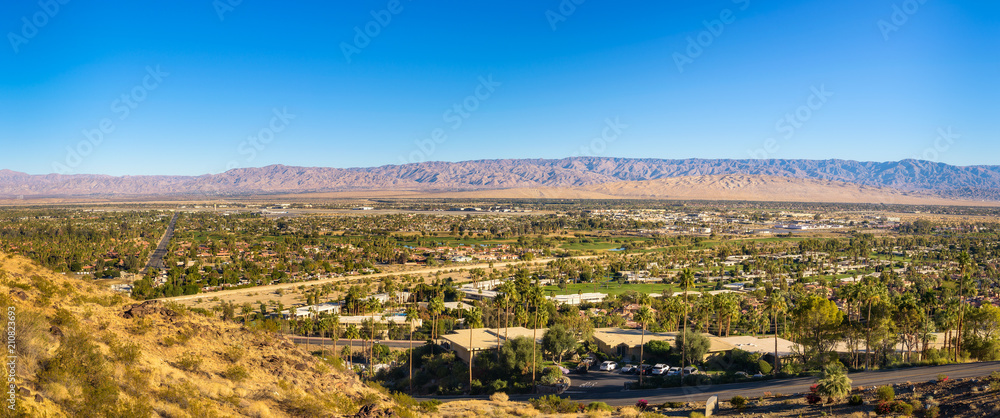 Fototapety, obrazy: Panorama of Palm Springs in California