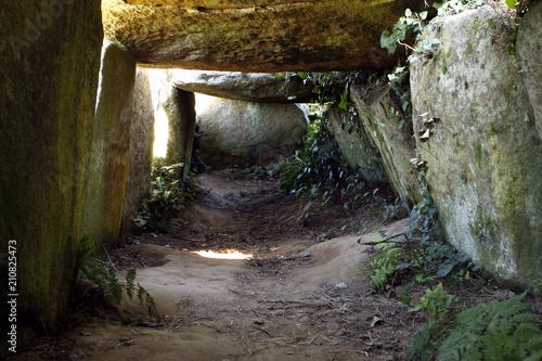 Deurstickers Canarische Eilanden Dolmen néolithique