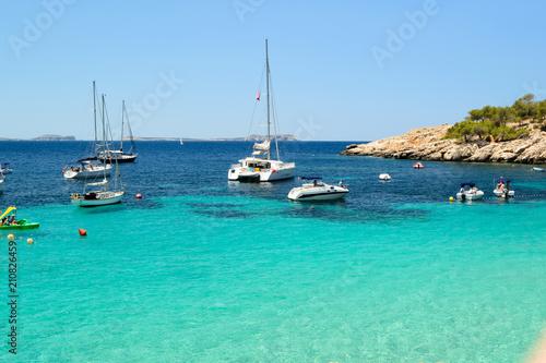 Foto op Plexiglas Caraïben beach afternoon in Cala Salada, Sant Antoni de Portmany Ibiza, Spain