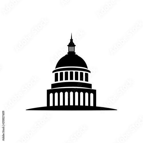 Obraz na plátne icon isolated white background, sacramento vector government building