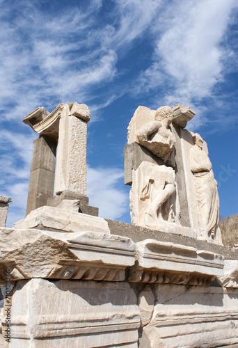 Foto op Aluminium Rudnes Ephesus Ancient City Sculptures