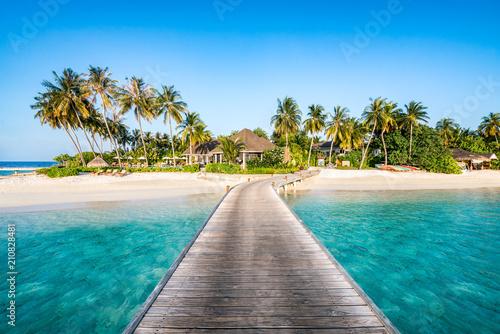 Foto-Schiebegardine Komplettsystem - Urlaub auf einer einsamen Insel in den Tropen