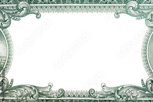 Fotografía  U.S. dollar border with empty middle area