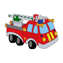 Fire Truck Cartoon Illustratio...