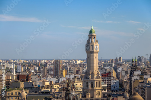 Spoed Fotobehang Buenos Aires Buenos Aires City Legislature Tower and downtown aerial view - Buenos Aires, Argentina