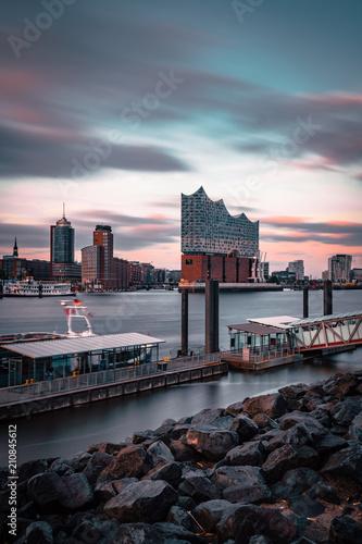 Hamburg Elbphilharmonie Sonnenuntergang Tableau sur Toile