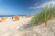 Strand Gras Düne Strandkörbe