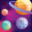 solar system planets moon virtual reality