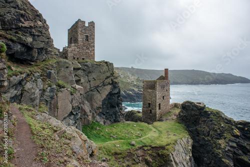 Deurstickers Rudnes Cornish Tin Mine ruin