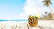 fresh pineapple fruits