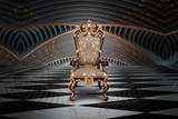 Empty throne in hall