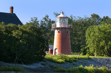 Pink Vermont Lighthouse On Nor...