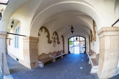 Photo  Old Courtyard in Bratislava, fisheye
