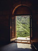 View Through Church Doors On G...