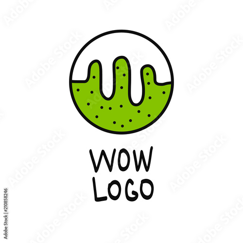 Foto  Slime illustration logo