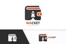 Vector Wallet And Rocket Logo ...