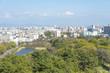 名古屋城から東方面の風景(愛知県名古屋市)