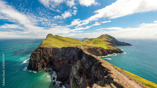 Obraz na plátně  Madeira hiking on Ponta de Sao Lourenco peninsula, Madeira island, Portugal