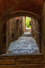 Stairs In A Dark Vault Alley