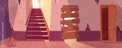 Vector illustration of abandoned house