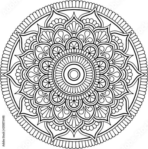 Photo  Figure mandala for coloring