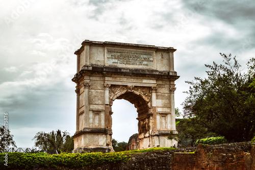Fotografie, Obraz The Arch of Titus in Rome, Italy. Rome landmark.