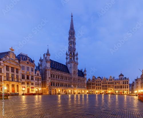 Foto op Aluminium Brussel Brussels. Grand Place Square.