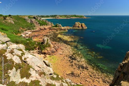 Foto op Canvas Kust La Moye, Jersey, U.K. Idyllic coast in the Summer.