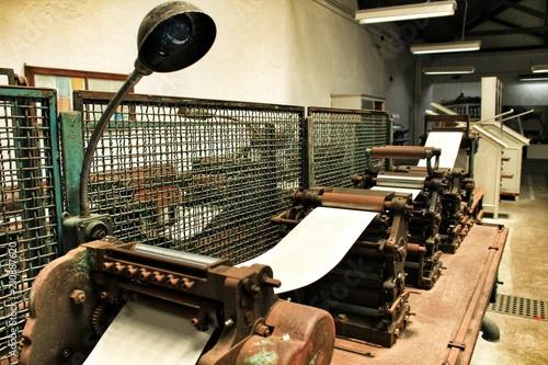 Obraz na plátně Old printing machine