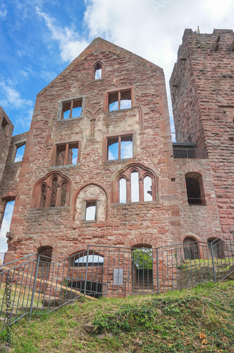 In de dag Oude gebouw Burg Wertheim