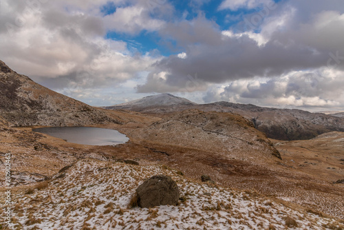 Spoed Foto op Canvas Lavendel Snowdon Landscape views