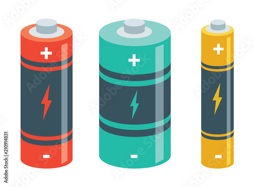 Obraz Vector Illustration Of Batteries - fototapety do salonu